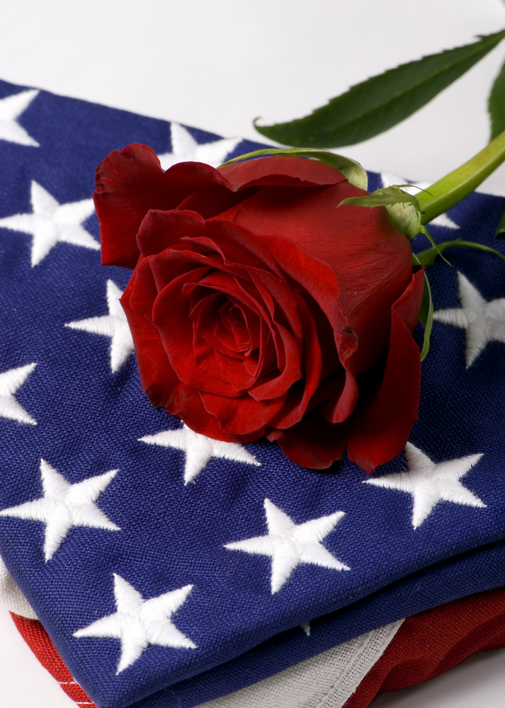 Military/Patriotic Funeral Casket/Blanket Cover in Beverly ... |Military Funeral Flag Flowers